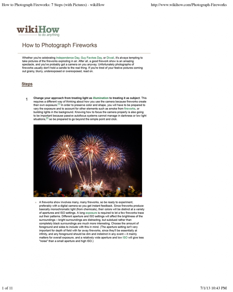How to Photograph Fireworks: 7 Steps (with Pictures) - wikiHow
